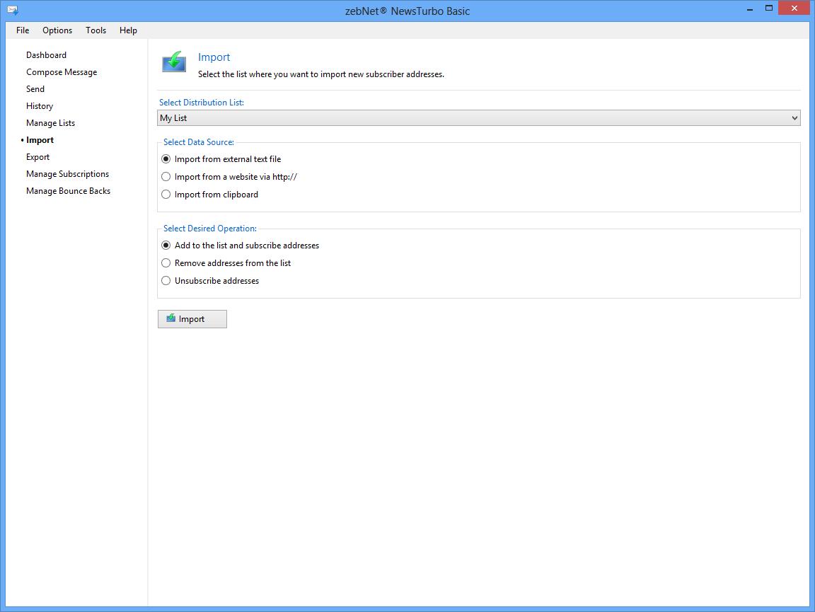Internet Software, zebNet NewsTurbo Basic Screenshot