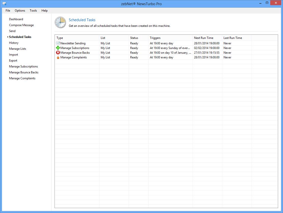 zebNet NewsTurbo Pro, Internet Software Screenshot