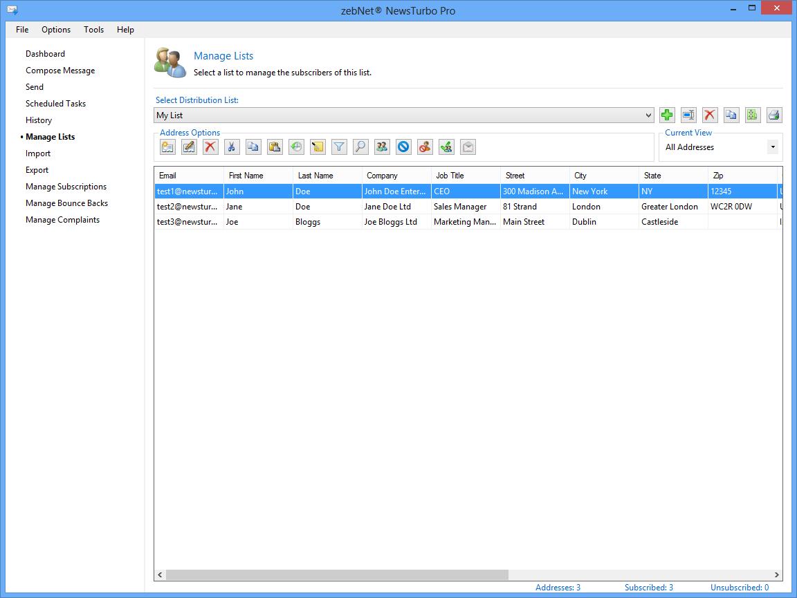 Internet Software, zebNet NewsTurbo Pro Screenshot