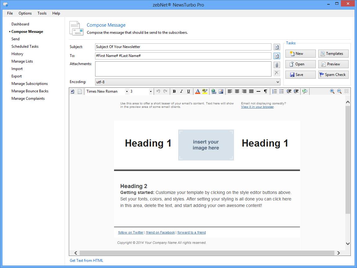 Bulk Mailer Software Screenshot
