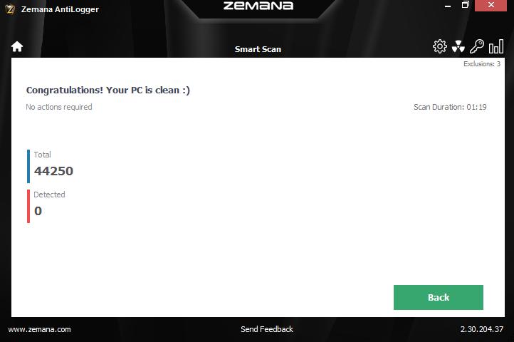 Zemana AntiLogger, Security Software Screenshot