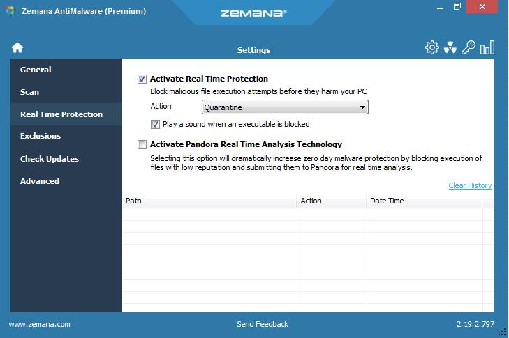 Zemana AntiMalware, Internet Security Software Screenshot