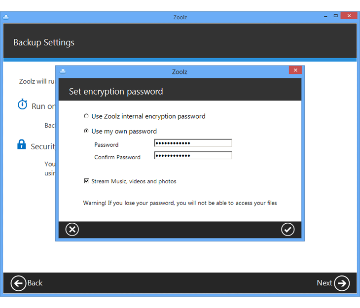Security Software, Backup Cloud Software Screenshot
