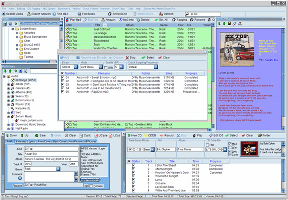 Zortam Mp3 Media Studio Pro, MP3 Recording Software Screenshot