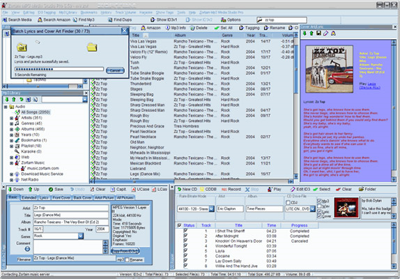 MP3 Recording Software, Zortam Mp3 Media Studio Pro Screenshot