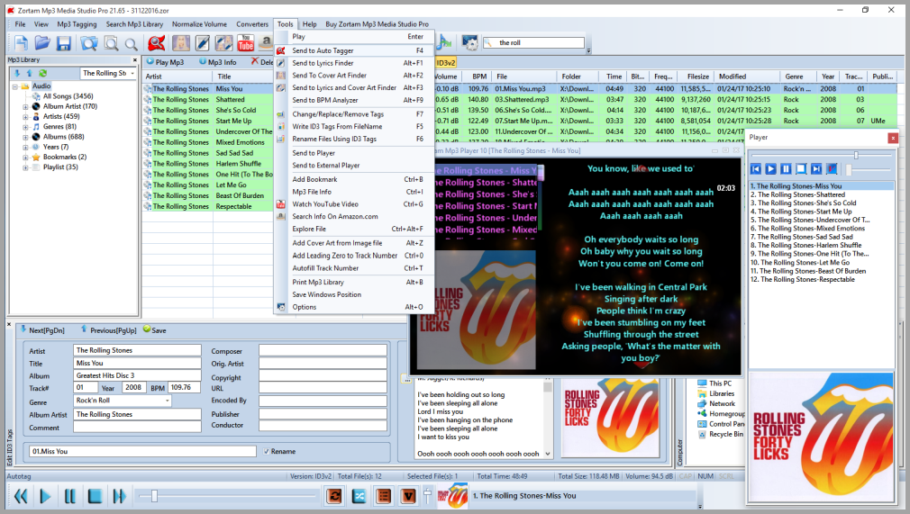 Zortam Mp3 Media Studio Pro Screenshot